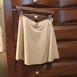 American Apparel Nude Leather Skirt